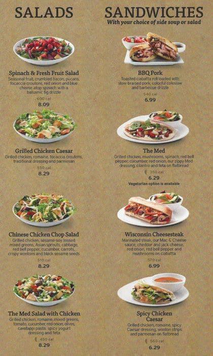 Menu At Noodles Company Restaurant Naperville 207 S Washington St