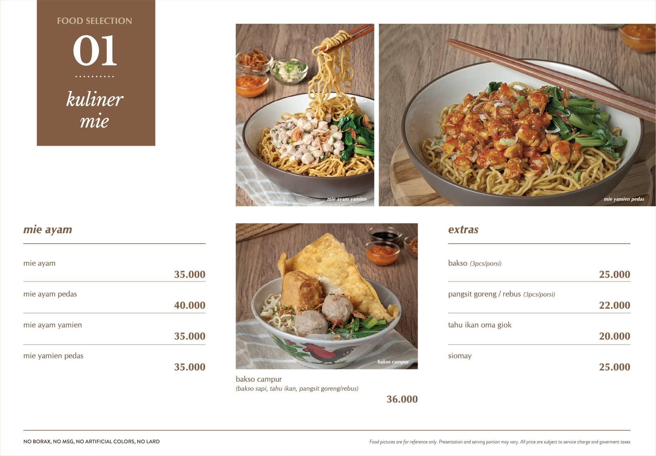 Roemah Kuliner Menu Menu For Roemah Kuliner Cikini