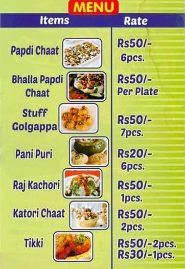 menu chart: Chart corner menu menu for chart corner sector 7 dwarka new