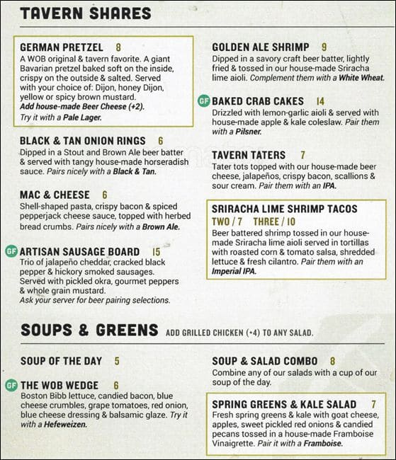 World Of Beer Menu Menu For World Of Beer Evanston Chicago