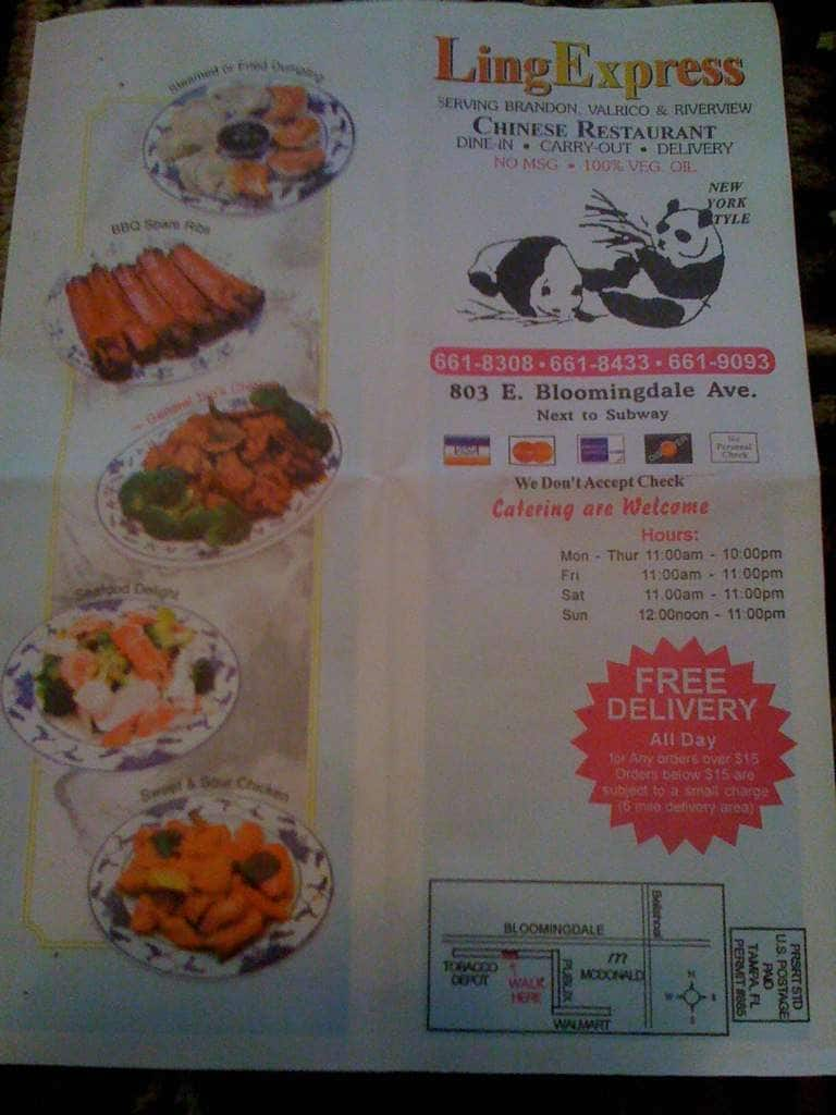 Chinese Food Delivery Valrico Florida