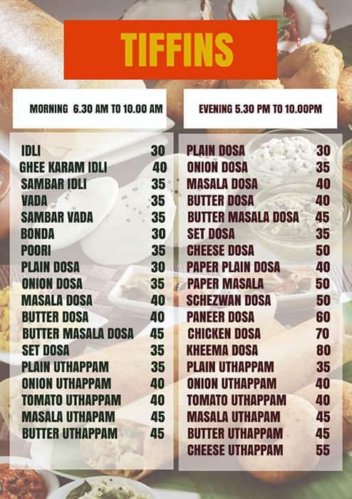 UMAMI Classic Menu, Menu for UMAMI Classic, Gopalapatnam