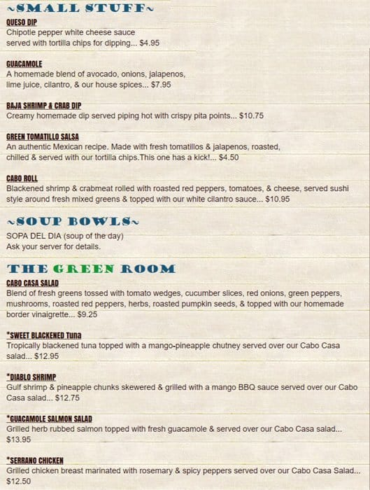cabo fish taco menu menu for cabo fish taco noda