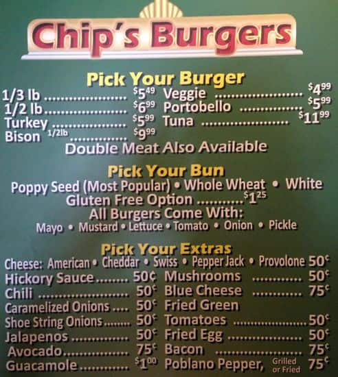 Chip S Old Fashioned Hamburgers Prices