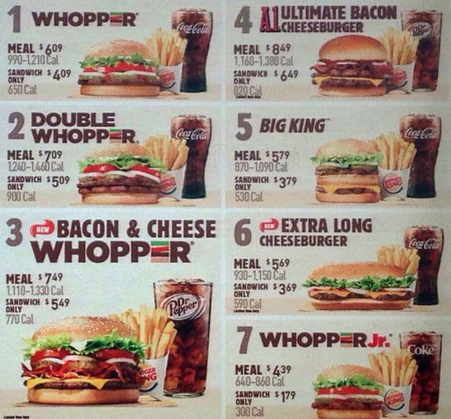 Burger King Menu, Menu for Burger King, Millbrook, Philadelphia ...