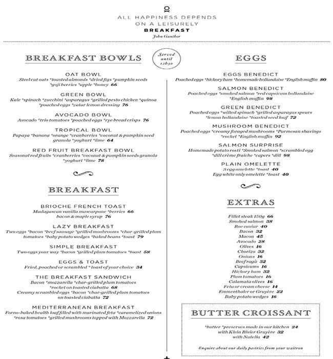 Life Grand Cafe Waterfall Menu