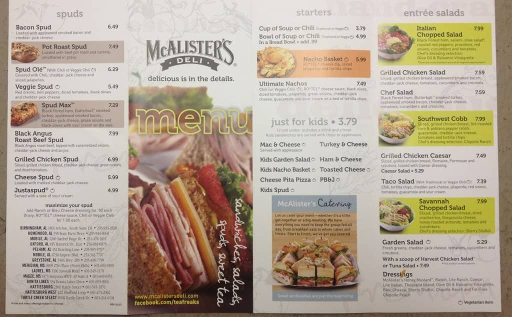 It's just a graphic of Zany Mcalisters Deli Printable Menu