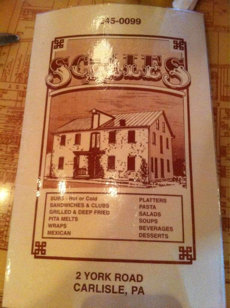 Scalles Carlisle Menu