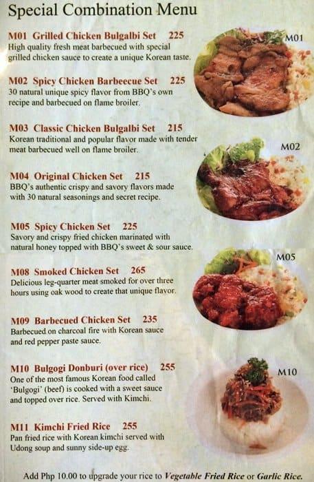 Chicken & Beer Menu, Menu for Chicken & Beer, Alabang ...