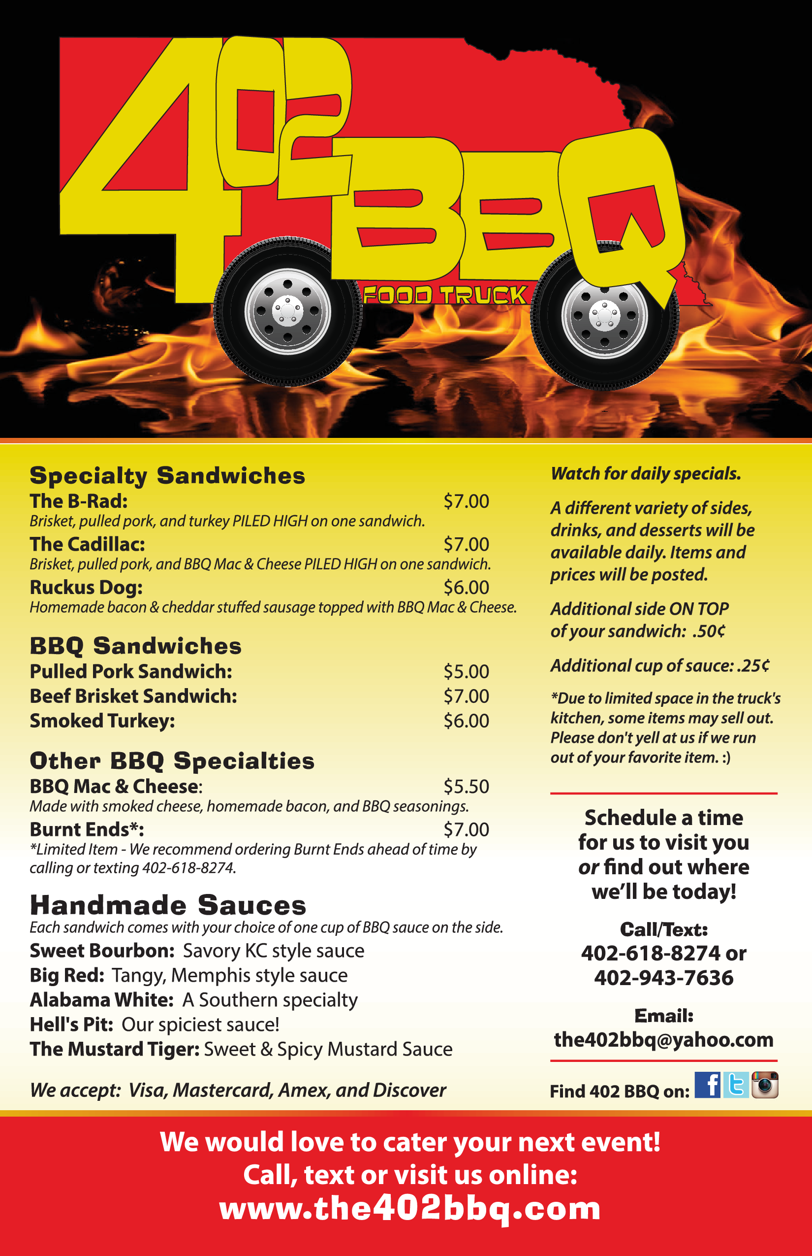 402bbq food truck menu menu for 402bbq food truck for Kitchen 88 food truck utah menu
