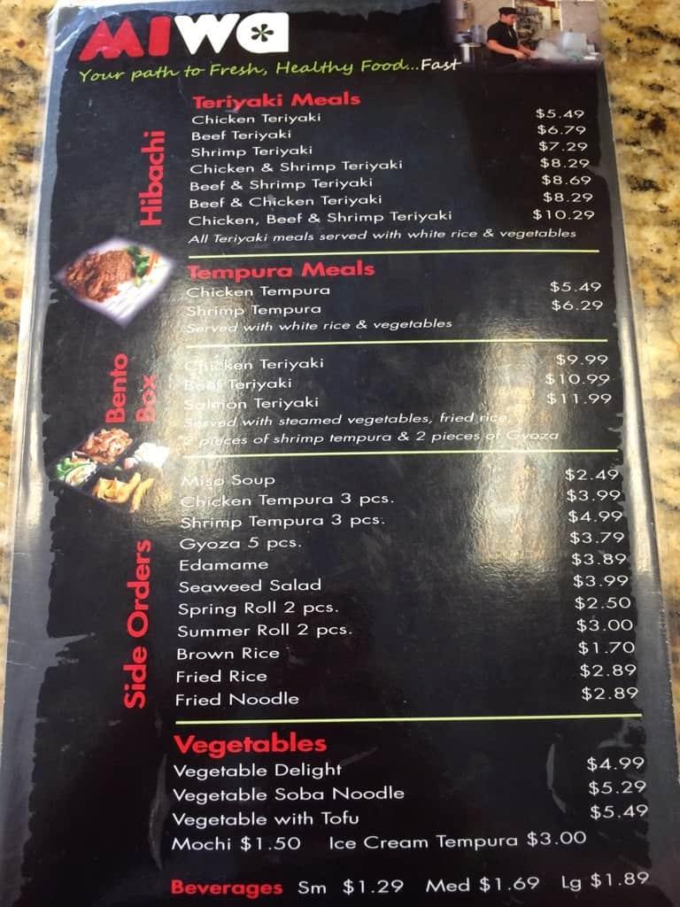 miwa hibachi u0026 sushi express menu urbanspoon zomato