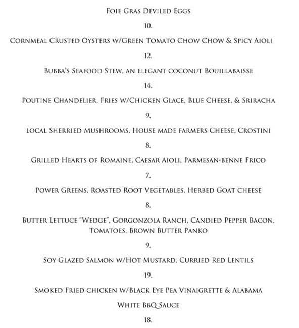 Chandelier Cafe Menu, Menu for Chandelier Cafe, Jackson, Jackson ...