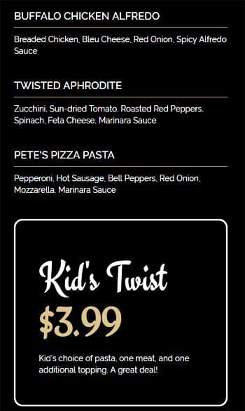 Menu at Twisted Kitchen, 930 Spring St NW - Restaurant prices