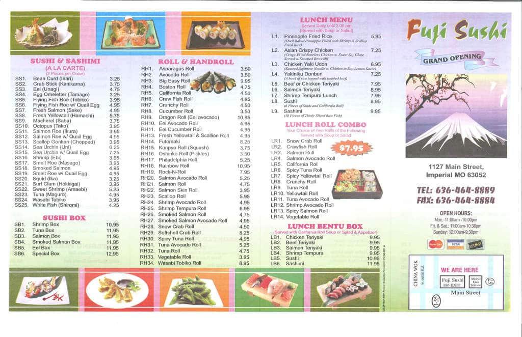 fuji sushi imperial st louis urbanspoon zomato rh zomato com Fuji Sushi Buffet Chicago Fuji Sushi Buffet Chicago