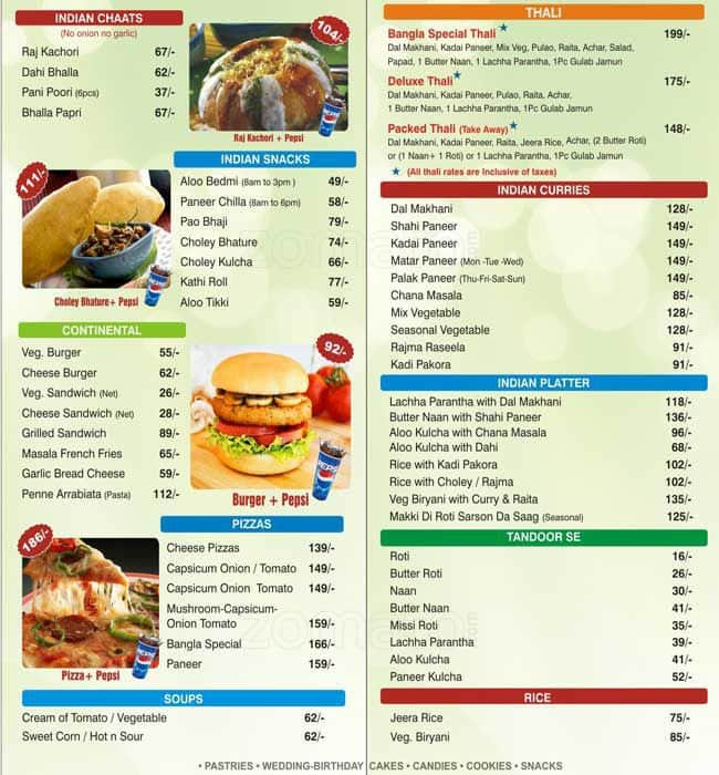 Bengali Wedding Food Menu List