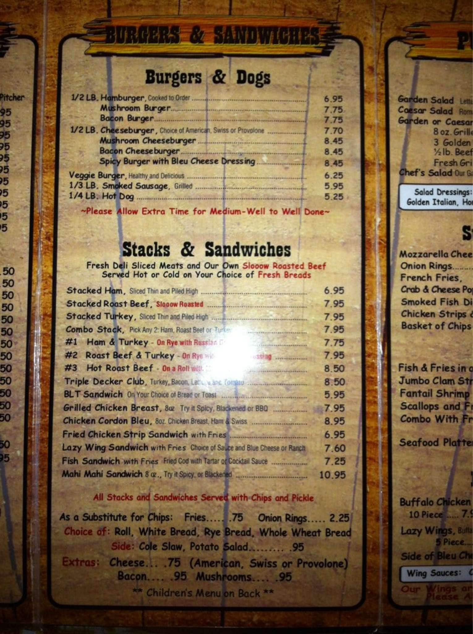 Menu at Brass Ring Pub, North Palm Beach