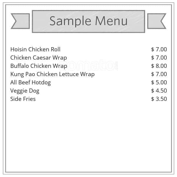 Eat Chicken Wraps Menu Menu For Eat Chicken Wraps Downtown