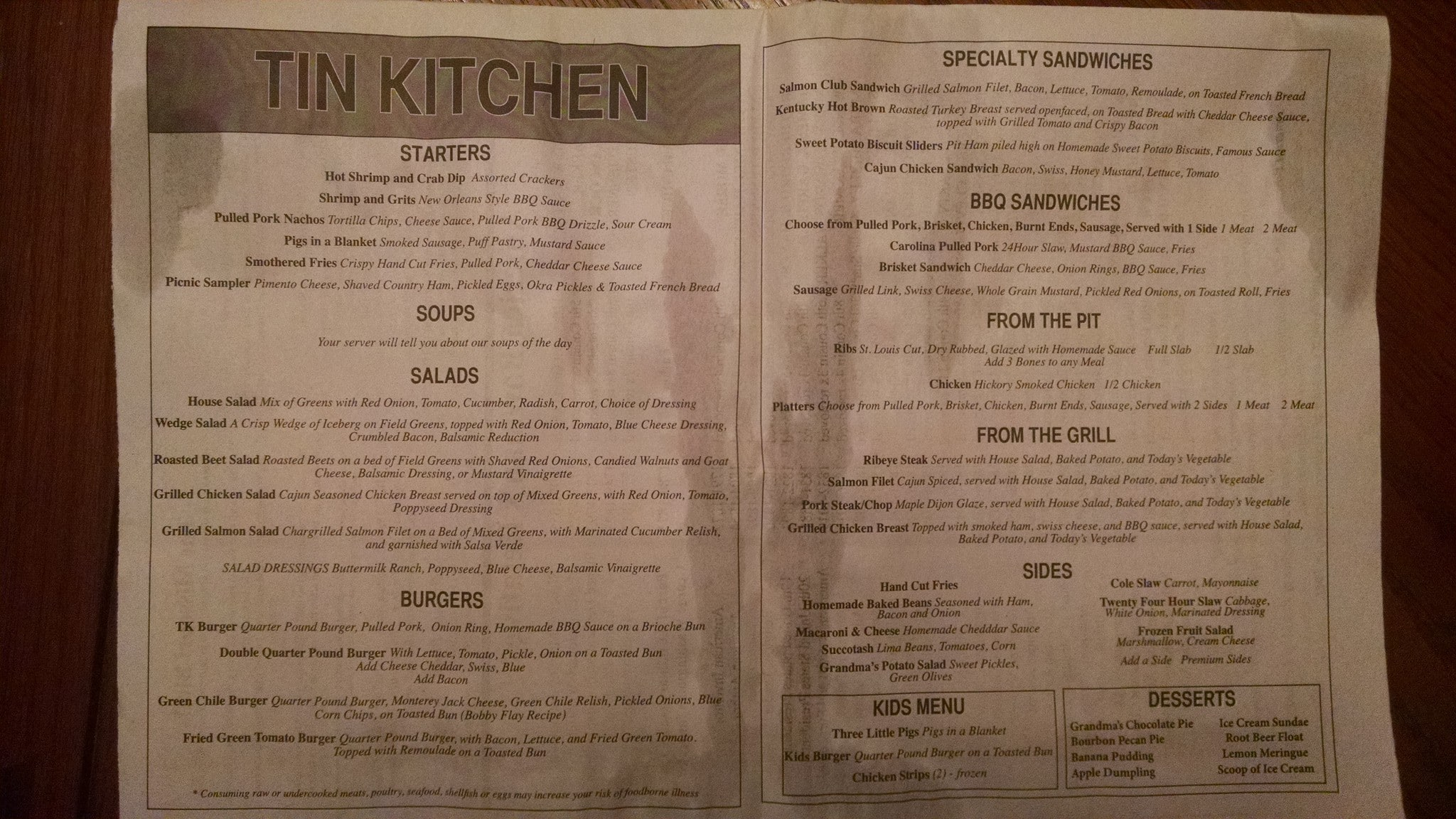 Tin Kitchen Weston Kansas City Missouri