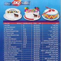 Scanned Menu For DQ