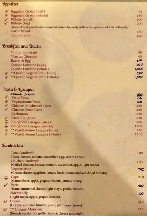 Macaron Tango Cafe Cebu Menu