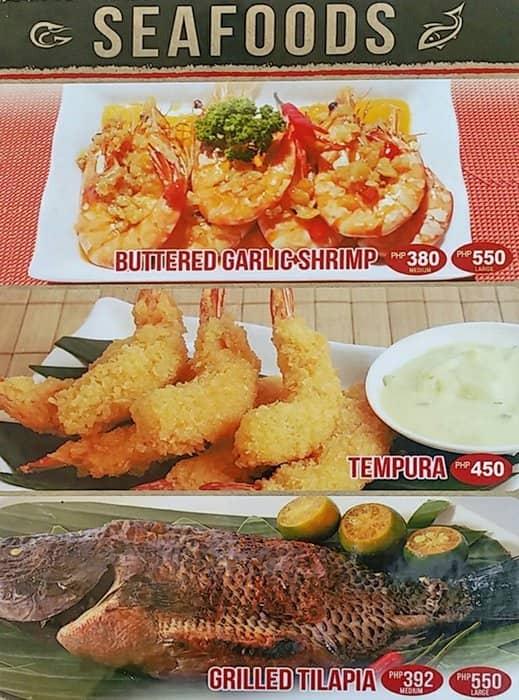 Diner S Bulalo Restaurant Menu