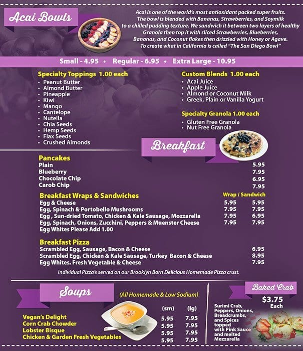 Beach Bowls Acai Cafe Prices