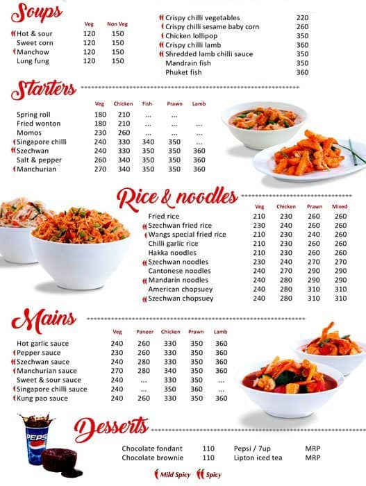Nice Wangs Kitchen Menu Images Gallery >> Menu At Wang S Kitchen ...