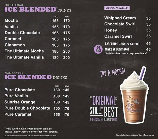 Coffee Bean Drink Menu Singapore