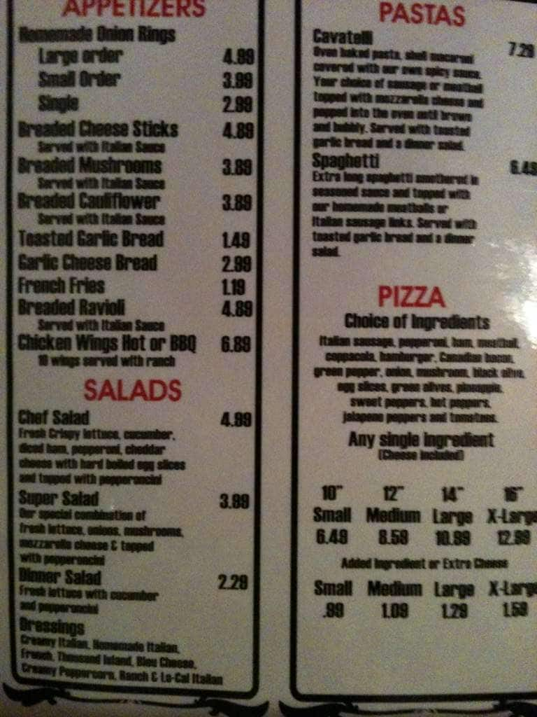 Menu At Paesanos Pizzeria Des Moines