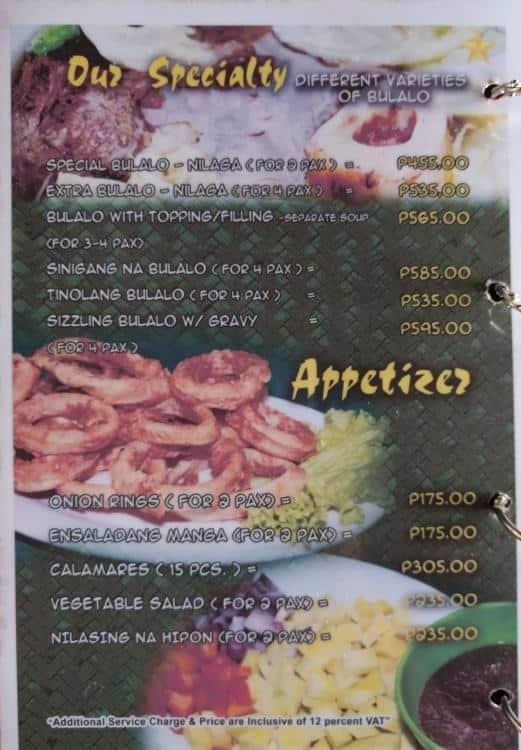 ats a nice menu