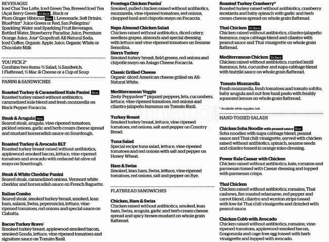 Scanned menu for Panera Bread  sc 1 st  Zomato & Panera Bread Capitol Hill Seattle - Urbanspoon/Zomato Aboutintivar.Com