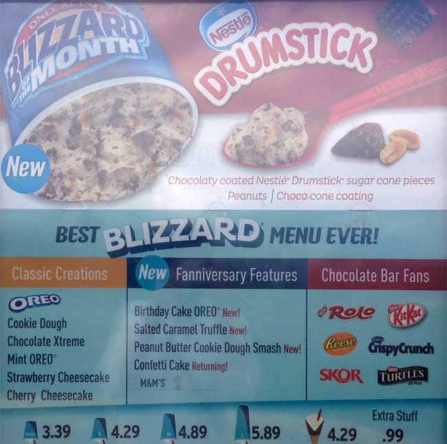 The Restaurant Information Including Dairy Queen Menu Items And Prices May Have Been Modified Since Last Website Update