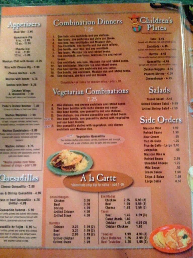 Mazatlan Mexican Restaurant Joelton Menu