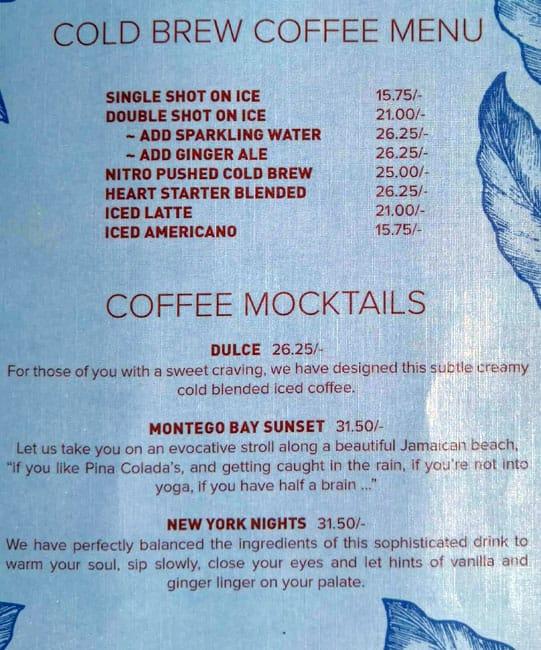 منيو كافيه Mokha 1450 دبي