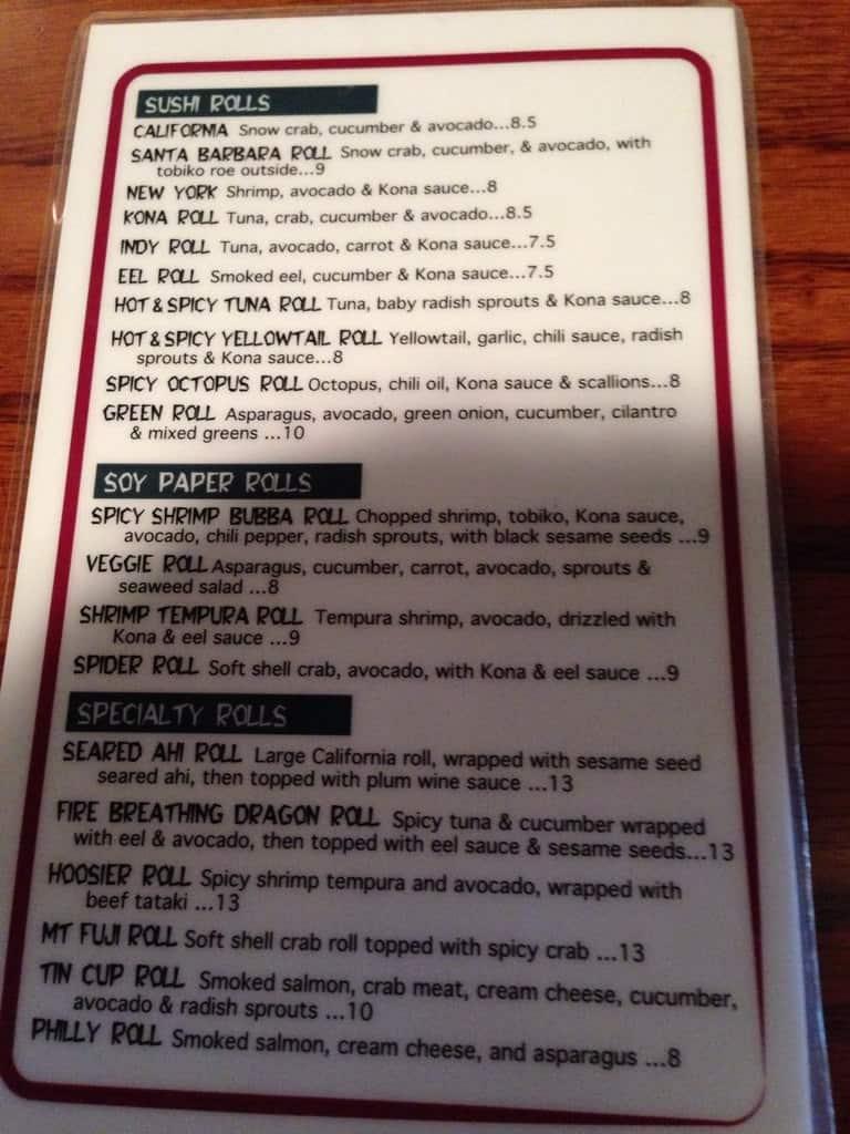 Kona jack 39 s fish market sushi bar menu urbanspoon zomato for Two fish menu