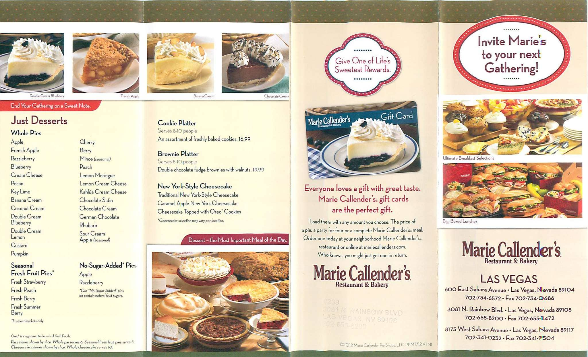 The legacy of Marie Callender began in the early s in Orange County, California, when Marie, an accomplished baker, first launched her legendary pie business, delivering freshly baked pies .