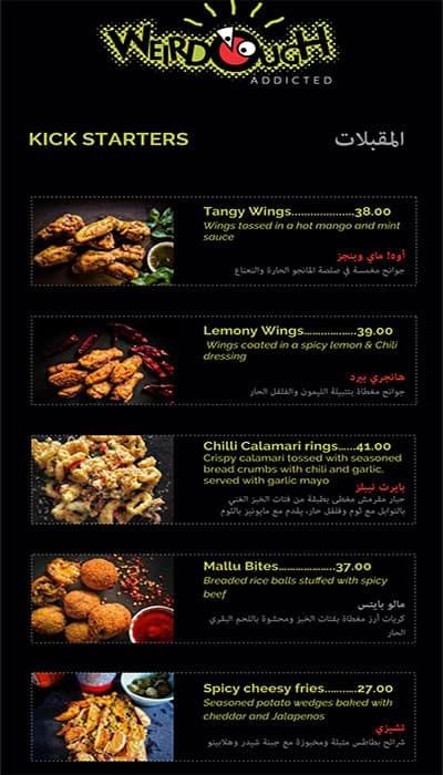 Weirdough Menu, Menu for Weirdough, Dubai Zomato