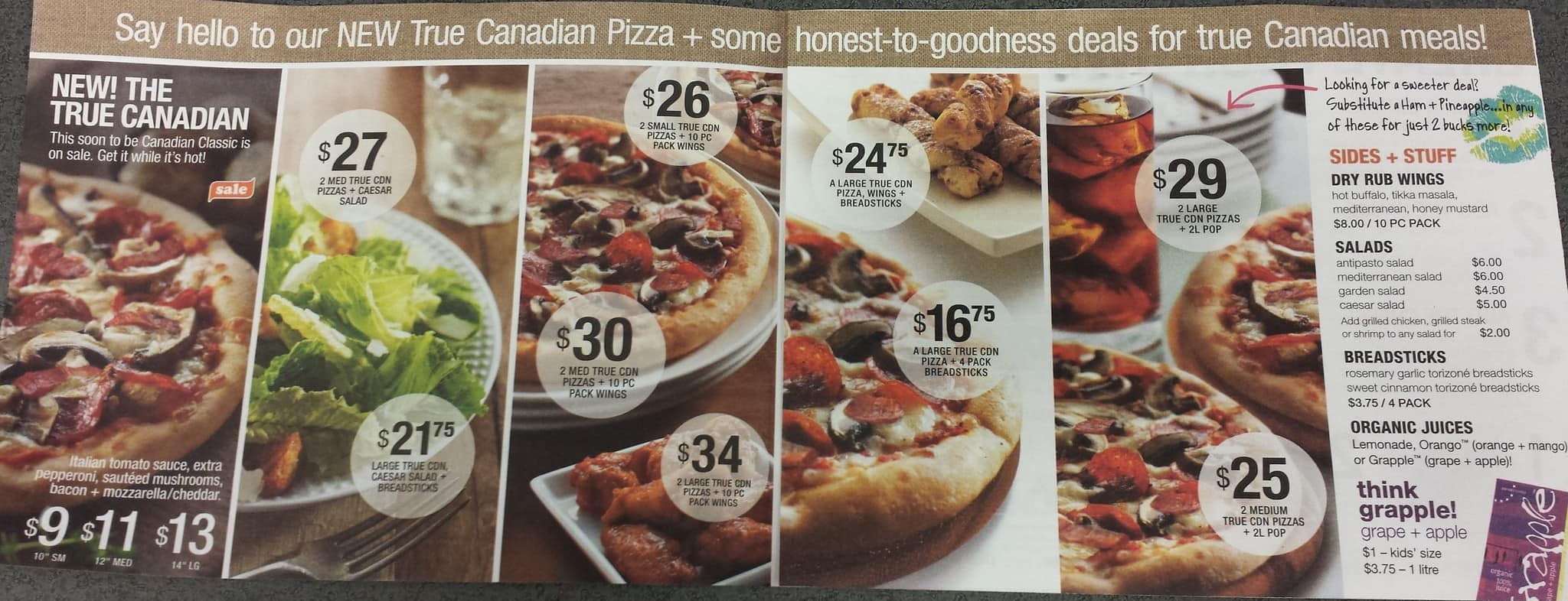 Panago Pizza Menu For Harvest Hills Calgary