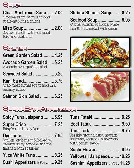 99e5f938cd9 Kobe Sushi   Hibachi Steak House Menu - Urbanspoon Zomato