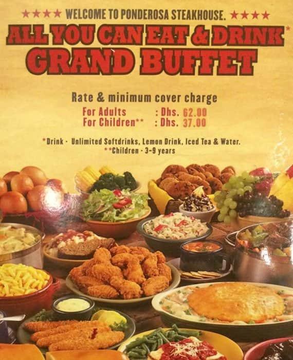 ponderosa menu menu for ponderosa al khabaisi dubai zomato rh zomato com Ponderosa Buffet Coupons Ponderosa Buffet Coupons