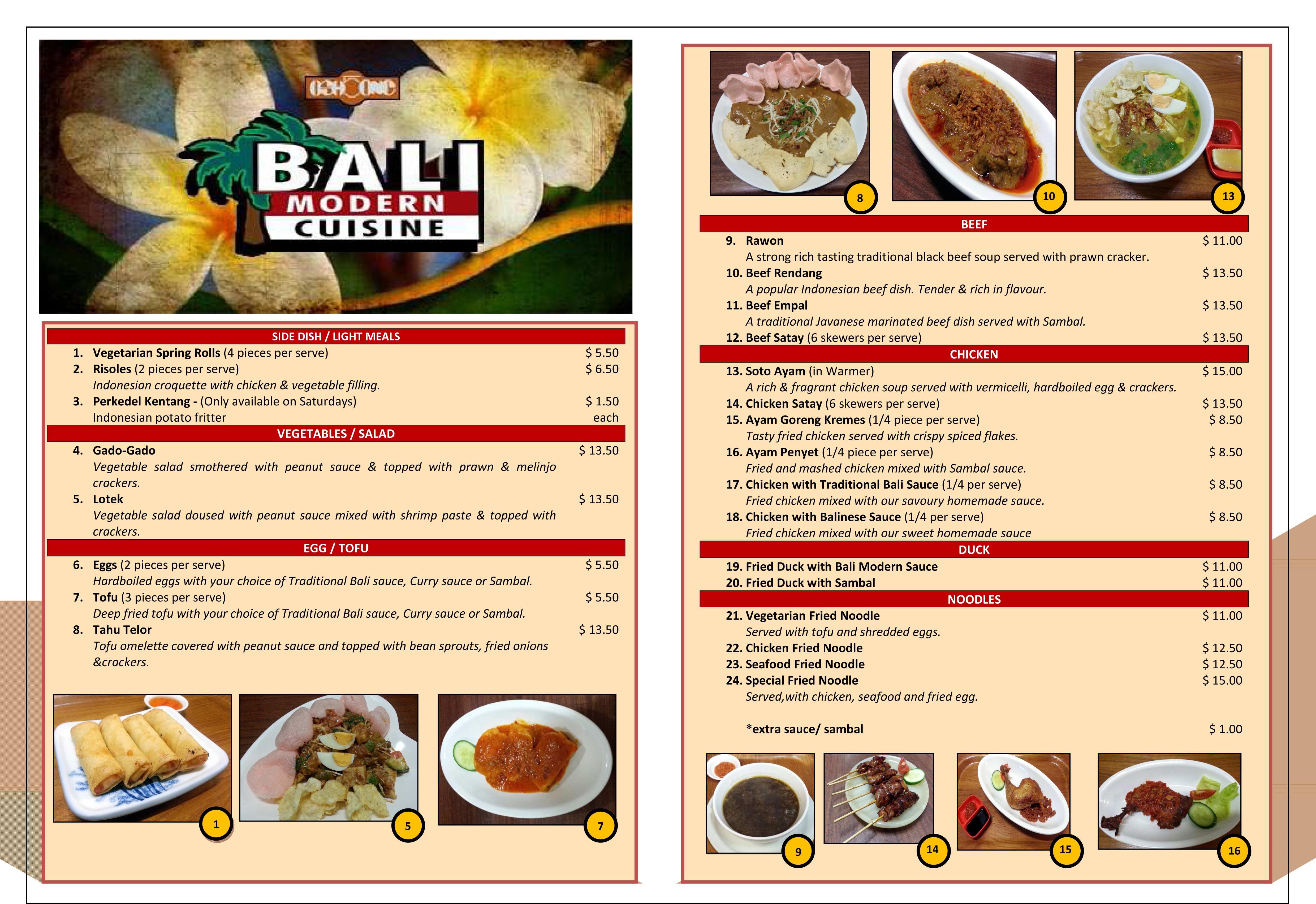 OSH5ONE - Bali Modern Cuisine Menu - Urbanspoon/Zomato