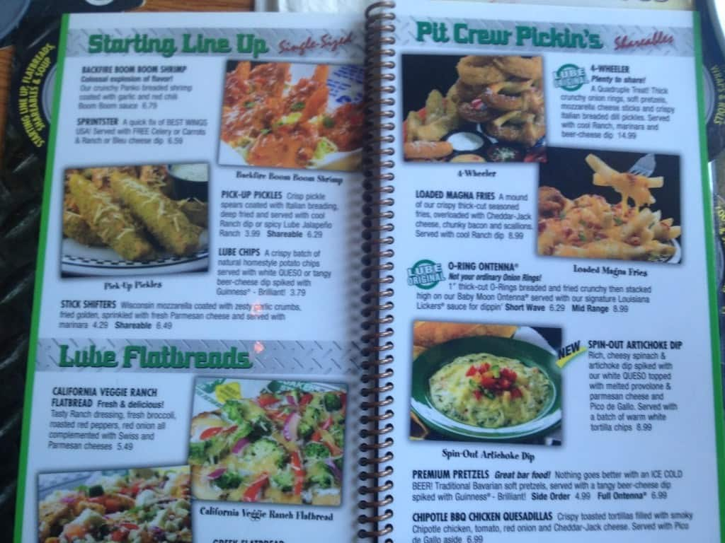 Quaker Steak Restaurant Menu