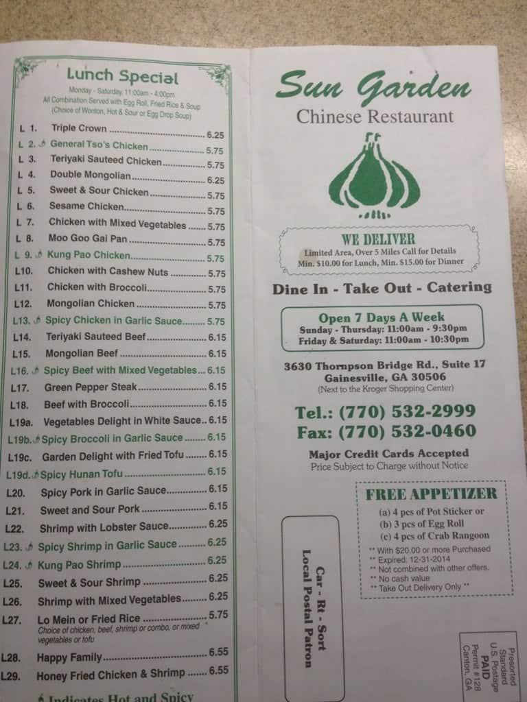 Sun Garden Chinese Restaurant