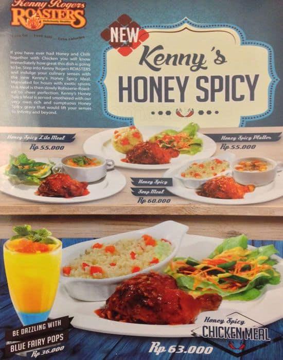 Kenny Rogers Roasters Menu, Menu for Kenny Rogers Roasters ...