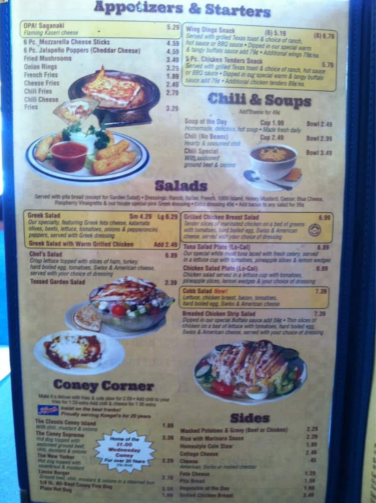 Lees Coney Island Warren Mi Menu
