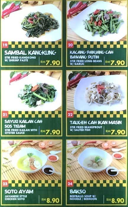Dapur Penyet Menu For Yen 13 Shah Alam