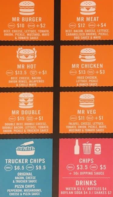 Mr Burger Menu, Menu for Mr Burger, Fitzroy, Melbourne ...