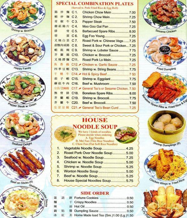 Scanned Menu For Peking Kitchen