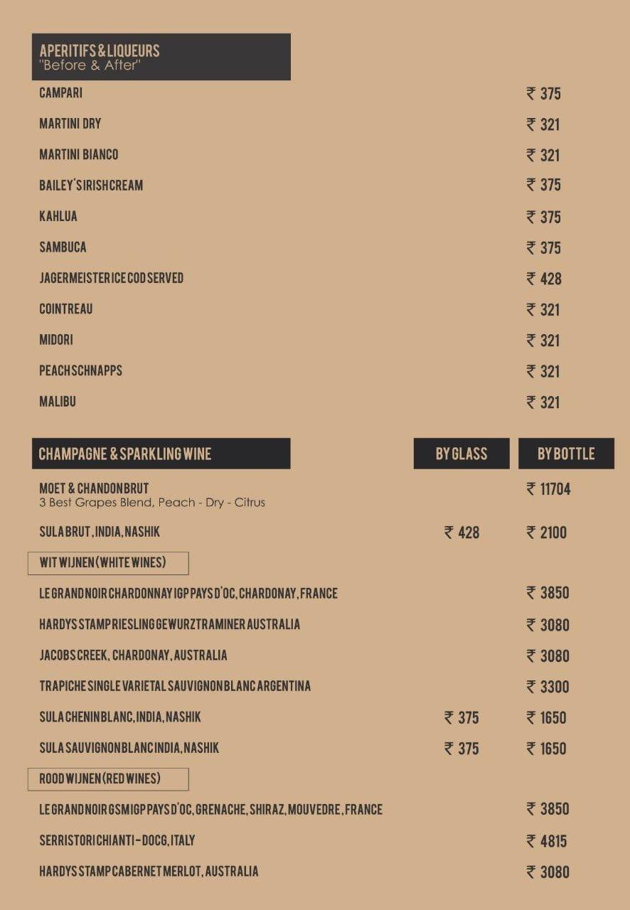 I amsterdam menu