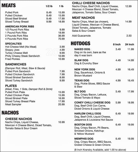 memphis whittingtons cafe menu